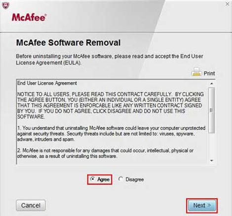 как удалить mcafee с windows 7 полностью
