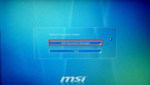 msi recovery manager